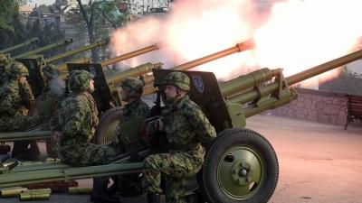Почасна артиљеријска паљба поводом Дана Војске Србије