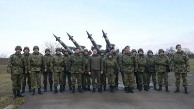 Министар одбране и заменик начелника Генералштаба Војске Србије у 250. ракетној бригади за ПВД